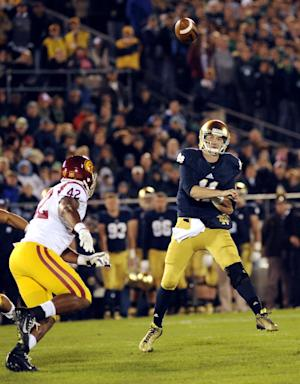 Notre Dame QB Rees to start against Air Force