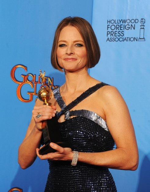 Jodie Foster, winner of the Cecil B. De Mille Award, poses in the press room during the 70th Annual Golden Globe Awards held at The Beverly Hilton Hotel in Beverly Hills, Calif., on January 13, 2013 -