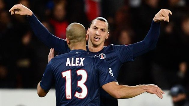 Champions League 2012/2013 PSG Zagreb Alex Zlatan