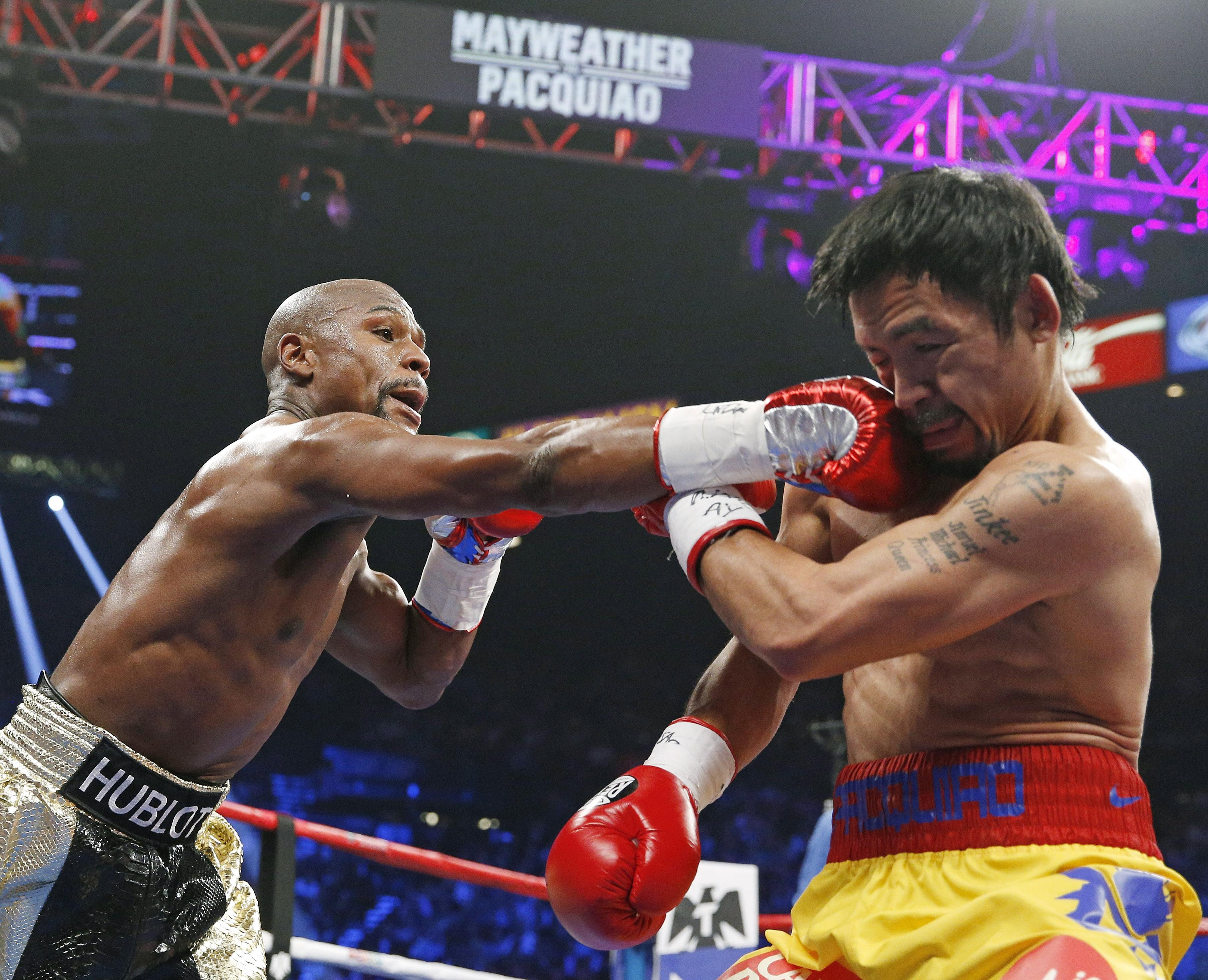 Highlights of the Mayweather-Pacquiao Fight