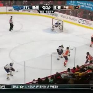 Brian Elliott Save on Pierre-Edouard Bellemare (06:26/2nd)