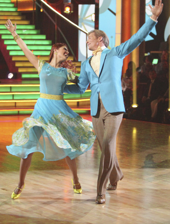Anna Trebunskaya and Jack Wagner perform on &quot;Dancing With the Stars.&quot; 