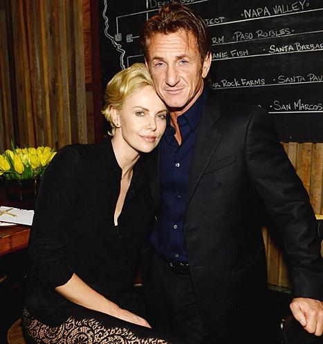 "Charlize Theron, Sean Penn ""Get Down"" at Pharrell Williams' Pre-Oscars Party: Picture"
