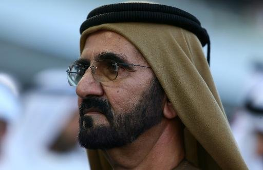Sheikh Mohammed Bin Rashid al-Maktoum, ruler of Dubai, arrives at the Meydan race track in the Gulf emirate on March 30, 2013