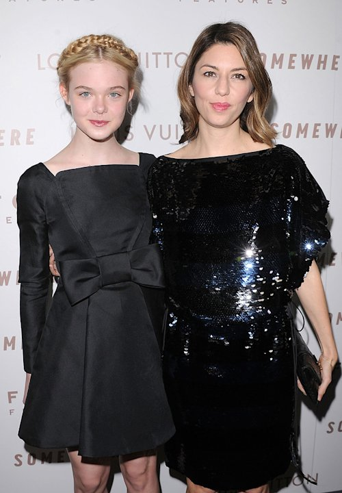 Somewhere LA Premiere 2010 Elle Fanning Sofia Coppola