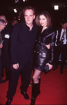Quentin Tarantino and Mira Sorvino at the Westwood premiere of Miramax's Jackie Brown