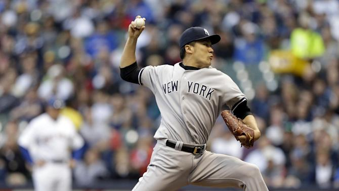 Tanaka wins again as Yankees beat Brewers 5-3