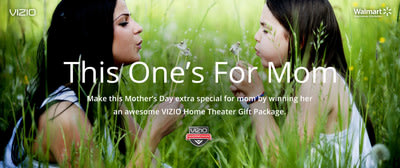"""In partnership with Walmart, VIZIO announced today the """"This One's For Mom"""" contest, giving family members the chance to pay tribute to their mo..."""