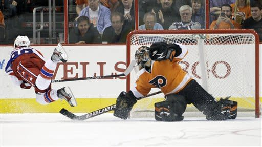 Flyers top Capitals 2-1 in shootout