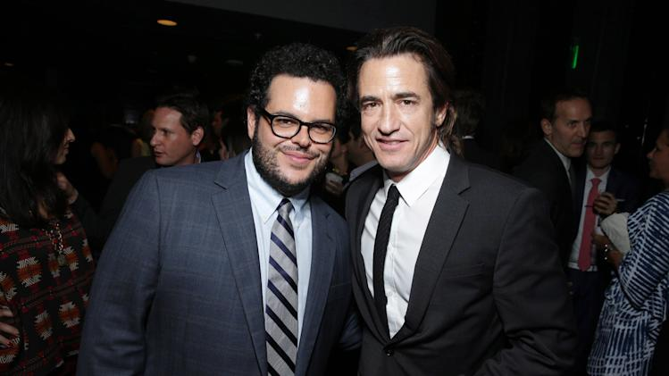 Josh Gad and Dermot Mulroney seen at the Special Los Angeles Screening of Open Road and Five Star Feature Films 'JOBS', on Tuesday, August, 13, 2013 in Los Angeles. (Photo by Eric Charbonneau/Invision for Open Road/AP Images)