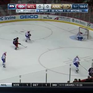 Carey Price Save on Jakob Silfverberg (01:01/1st)