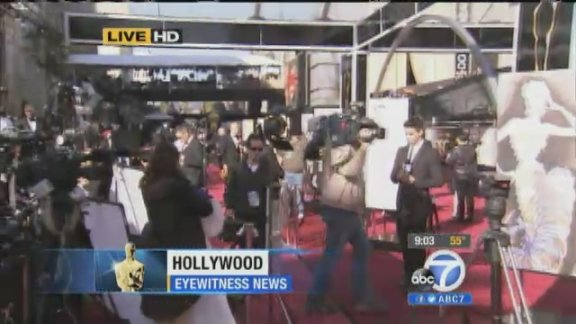 Oscar red carpet out, ready for Hollywood's biggest night