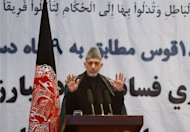 President Hamid Karzai (pictured) on Saturday blamed foreigners for most of the corruption in Afghanistan and said the withdrawal of NATO troops in 2014 would help rid the country of graft