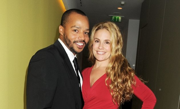 Donald Faison and Cacee Cobb attend an after party celebrating the press night performance of &#39;All New People&#39; at St Martin&#39;s Lane Hotel in London on February 28, 2012 -- Getty Premium