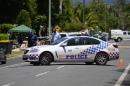 Police cordon off the scene where eight children aged between 18 months and 15 years were found dead at a home in the northern Australian city of Cairns, police said on December 19, 2014, reportedly after a gruesome mass stabbing