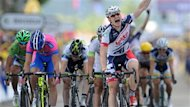 Andre Greipel (Lotto) a remport la cinquime tape du Tour de France, jeudi,  Saint-Quentin. Le coureur allemand a conclu ce deuxime succs en deux jours au sprint