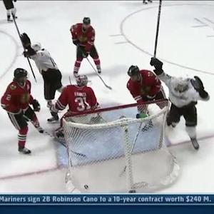 Ryan Getzlaf wrists a shot in for the PPG