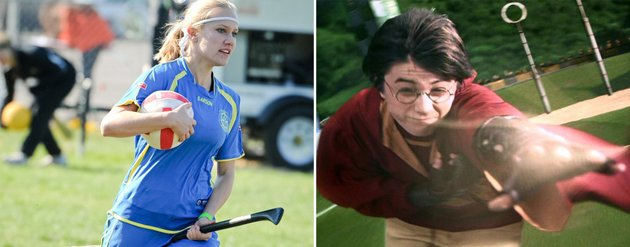 Real-life Quidditch (www.worldcupquidditch.com) and Harry Potter in action