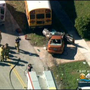 School Bus Accident Sends Three To Hospital