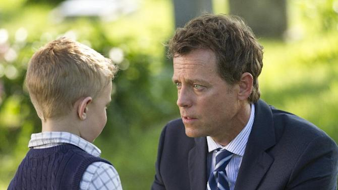 "This image released by Sony Pictures shows Connor Corum, left, and Greg Kinnear in a scene from ""Heaven Is For Real."" (AP Photo/Sony Pictures, Allen Fraser)"