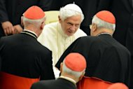 &lt;p&gt;Pope Benedict XVI greets cardinals in October at the Paul VI hall in the Vatican. Six non-European prelates are set to join the Catholic Church&#39;s College of Cardinals on Saturday, a move welcomed by critics concerned that the body which will elect the future pope is too Eurocentric.&lt;/p&gt;