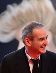 "French film director Olivier Assayas arrives for the screening of ""Apres Mai"" at the 69th Venice Film Festival on September 3, 2012 at Venice Lido. ""Apres Mai"" is competing for the Golden Lion in the Venezia 69 section of the festival"