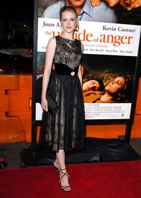 Evan Rachel Wood at the Westwood premiere of New Line Cinema's The Upside of Anger