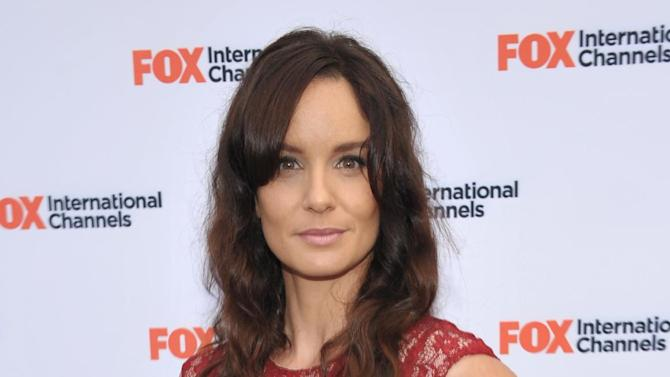 "COMMERCIAL IMAGE -  Sarah Wayne Callies attends  AMC's ""The Walking Dead"" Fox Breakfast on Friday July 13, 2012, in San Diego. (Photo by John Shearer/Invision for AMC/AP Images)"