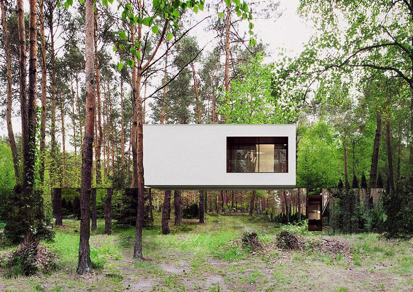 Vanishing Buildings: Mirrored Home in Poland Looks Like It's Floating in a Forest