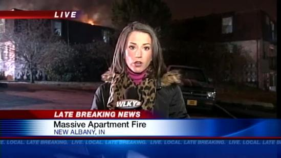 Apartment catches fire in New Albany
