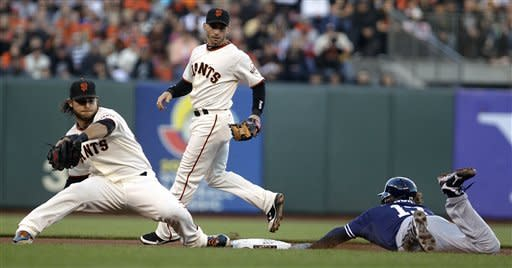 Bumgarner, Scutaro deliver as Giants win NL West