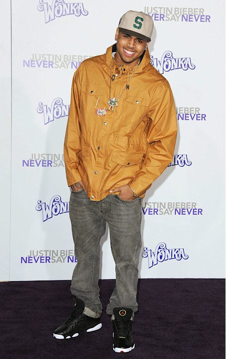 Justin Bieber Never Say Never 2011 LA Premiere Chris Brown