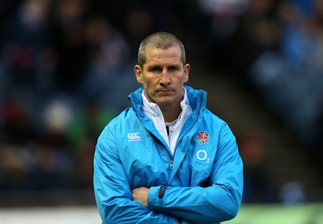 England coach Stuart Lancaster looks on ahead of the Six Nations rugby union international match against Scotland at Murrayfield, Edinburgh, Scotland, Saturday Feb. 8, 2014. (AP Photo/Scott Heppell)
