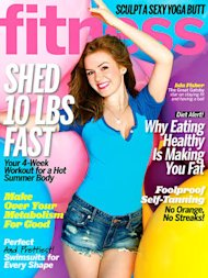 Isla Fisher en portada de Fitness