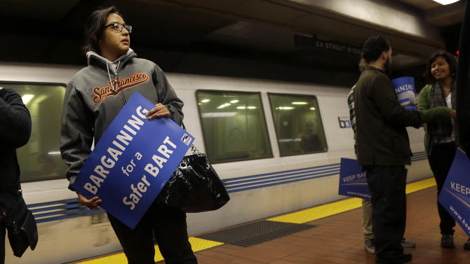 SF Bay Area transit more crowded with train strike