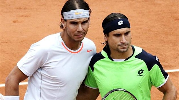 Rafael Nadal and David Ferrer before the men's French Open final at Roland Garros (Reuters)