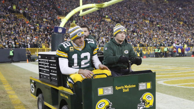 Packers' Aaron Rodgers returns vs Lions after hurting calf