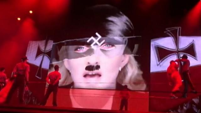Madonna Flashes Nazi Symbol At French Concert