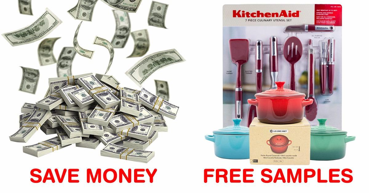 Save Money. FREE Samples.