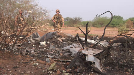 Undated handout photo of the crash site of Air Algerie flight AH5017 near the northern Mali town of Gossi