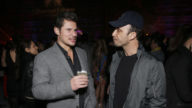 Nick Lachey and Larry Rudolph attend the 4th Annual Social Media Rock Stars Summit, on Friday, February, 8, 2013 in Los Angeles(Photo by Todd Williamson/Invision for Billboard Magazine/AP Images)