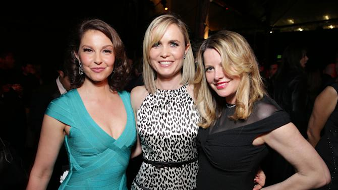 Ashley Judd, Radha Mitchell and Executive Producer Heidi Jo Markel at FilmDistrict's Premiere of 'Olympus Has Fallen' hosted by Brioni and Grey Goose at the ArcLight Hollywood, on Monday, March, 18, 2013 in Los Angeles. (Photo by Eric Charbonneau/Invision for FilmDistrict/AP Images)