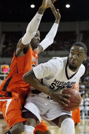 Moultrie, No. 22 Mississippi St beat Auburn 91-88