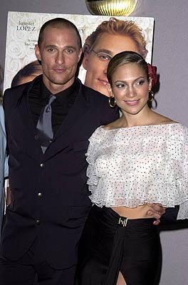 Matthew McConaughey and Jennifer Lopez at the Century City premiere of Columbia's The Wedding Planner Photo by Steve Granitz/WireImage.com