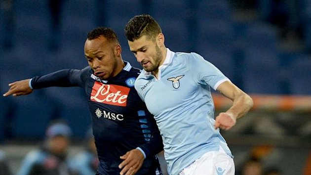 FOOTBALL - 2012/2013 - Lazio-Naples - Zuniga - Candreva