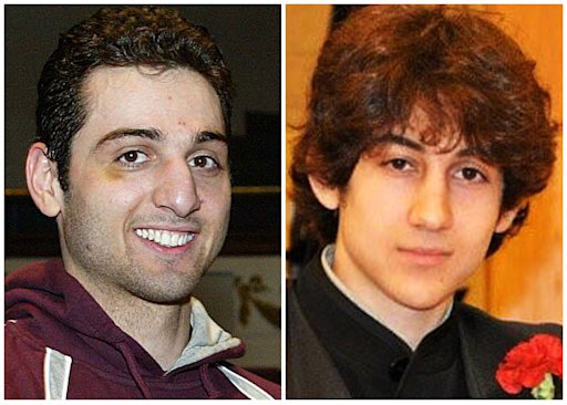 This combination of undated photos shows Tamerlan Tsarnaev, 26, left, and Dzhokhar Tsarnaev, 19. The FBI says the two brothers and suspects in the Boston Marathon bombing killed an MIT police officer, injured a transit officer in a firefight and threw explosive devices at police during a getaway attempt in a long night of violence that left Tamerlan dead and Dzhokhar still at large on Friday, April 19, 2013. The ethnic Chechen brothers lived in Dagestan, which borders the Chechnya region in southern Russia. They lived near Boston and had been in the U.S. for about a decade, one of their uncles reported said. (AP Photo/The Lowell Sun &amp; Robin Young)
