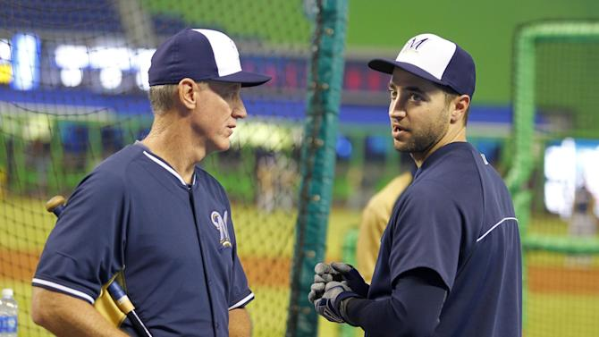 Brewers manager not faulting Braun for gaffe