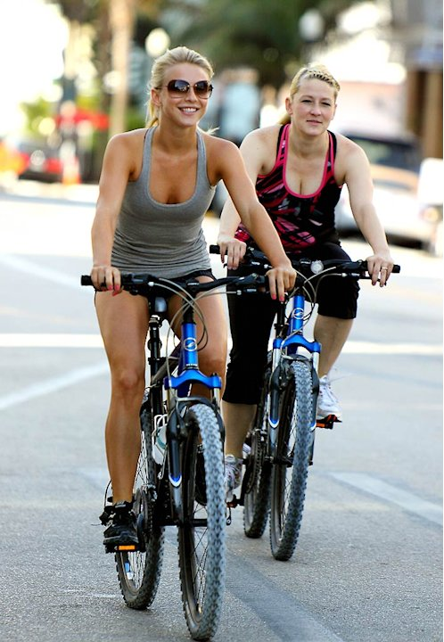 Julianne Hough Riding Bike