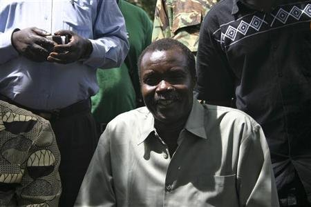 Lord Resistance Army's (LRA) Major General Joseph Kony, in this exclusive image, poses at peace negotiations between the LRA and Ugandan religious and cultural leaders in Ri-Kwangba, southern Sudan, November 30, 2008. REUTERS/Africa24 Media