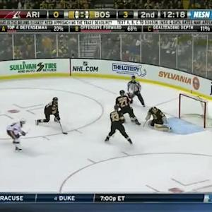 Tuukka Rask Save on Shane Doan (07:49/2nd)
